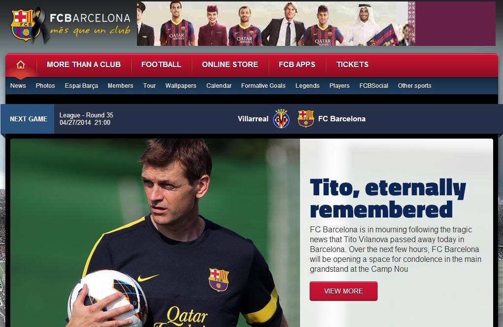 Il mondo del calcio piange Tito Villanova