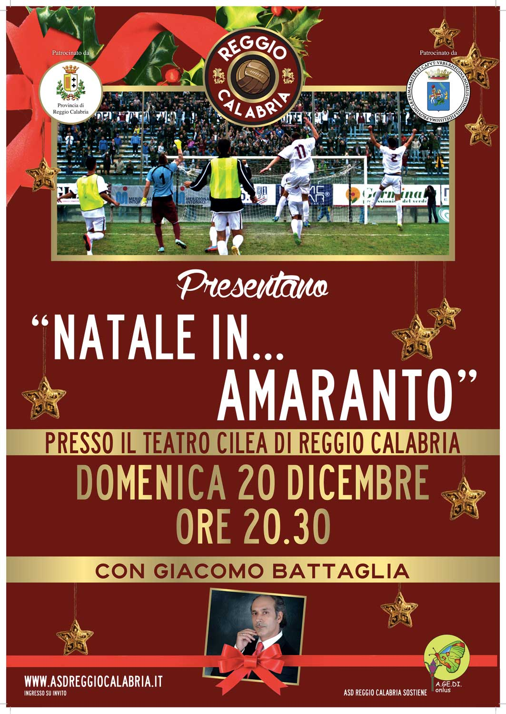 Reggina: Il Natale si festeggia In Amaranto!