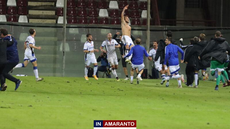 Reggina-Pisa 1-2, ritorno in campo da incubo per gli amaranto