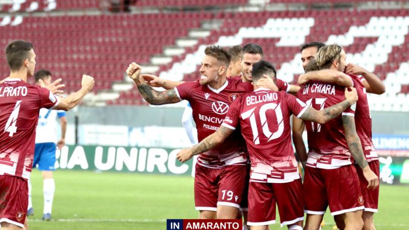 Reggina-Entella 1-0. La Reggina soffre ma vince con merito